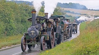 Incredible WW1 Military Vehicle Convoy Steam Through Dorset