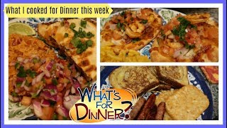 What I cooked for Dinner this week   Dinner Ideas to Cook at Home