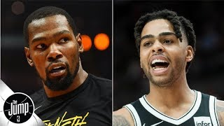 Kevin Durant wouldn't agree to D'Angelo Russell trade straight-up - Brian Windhorst | The Jump