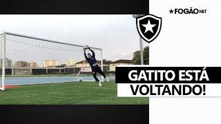 Tá voltando! Gatito Fernández mostra evolução e treina com bola no Botafogo 😼⚽
