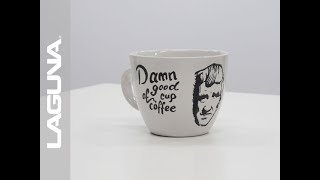 Laser Engraving a Coffee Mug - Twin Peaks David Lynch Quote