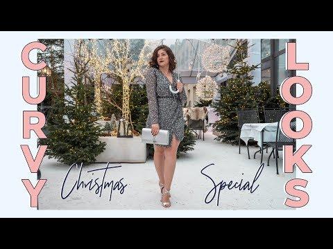 FESTLICHE LOOKS FÜR KURVIGE FRAUEN | Weihnachten & Silvester Outfits in Gr. 40-42 | #kleinundkurvig