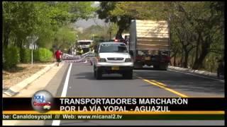preview picture of video 'Marcha de Transportadores de Casanare por la Vía Yopal Aguazul'