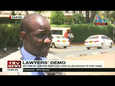 A section of lawyers want LSK chairman Allen Gichuhi to step aside