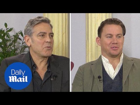 George Clooney, Channing Tatum & Josh Brolin chat Hail Caesar - Daily Mail