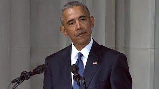 Former President Barack Obama honors Sen. John McCain
