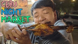 FEASTING at Cebu Philippines Night Market: BEST Roast Chicken!