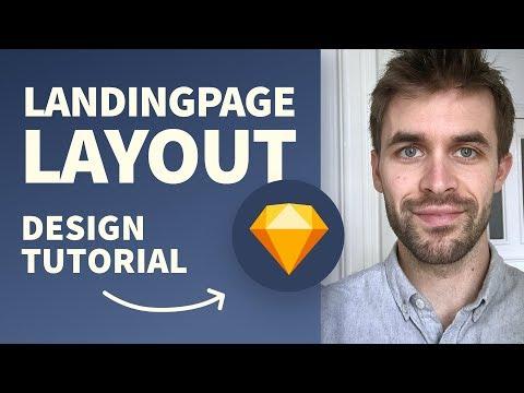 Landingpage Web Design Layout Prozess in Sketch – komplette Schritt für Schritt Anleitung