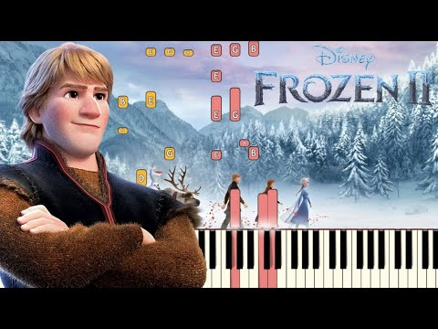 Lost in the Woods (Jonathan Groff) - Frozen 2 | Piano Tutorial (Synthesia)