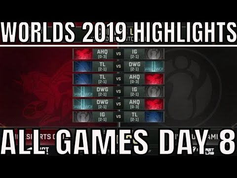 S9 Worlds 2019 Day 8 Highlights ALL GAMES Group D + Worlds 2019 Quarterfinal Draw