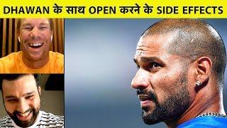Rohit, Warner ने बताया कि कितना मुश्किल है Shikhar Dhawan के साथ Opening करना