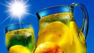 Холодный зеленый чай с лимоном  в домашних условиях.