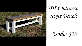 DIY Harvest Bench Under $25!