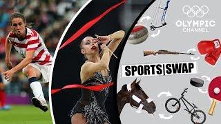 Football vs Rhythmic Gymnastics: Margarita Mamun & Heather O'Reilly Switch   Sports Swap Challenge