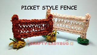 preview picture of video 'Rainbow Loom PICKET STYLE FENCE Advanced Charm Tutorials by Crafty Ladybug. Wonder Loom, DIY LOOM'
