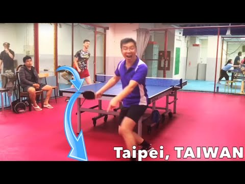 Players reaction to this curve ball in table tennis