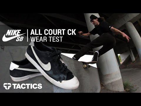 ef8125203f34 Nike SB Zoom All Court CK Skate Shoes Wear Test Review - Tactics.com ...