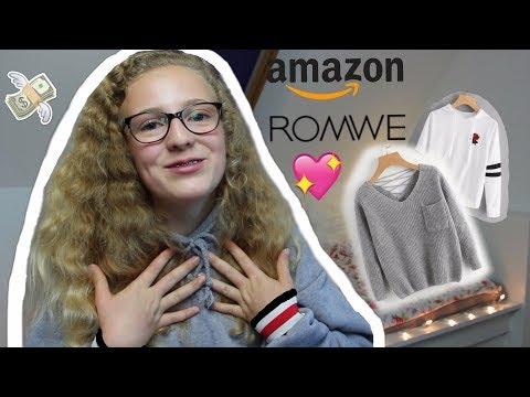 ROMWE & AMAZON Herbst/ Winter SHOPPING HAUL👛//Leonie4ever
