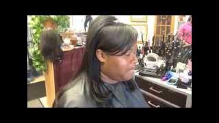 Pretty Prom weave (hair tutorial)