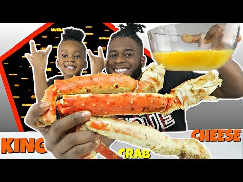 TRYING KING CRAB IN HOME MADE CHEESE! | SEAFOOD MUKBANG | CHEESE MUKBANG | EAT WITH ME | Funny | 먹방