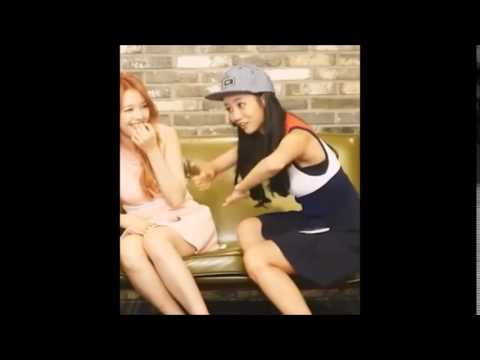 Girl's Day Hyeri and Yura laugh