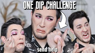 ONE DIP Makeup Challenge! HELP! by Manny Mua