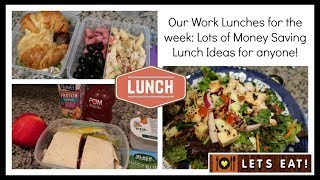 Our Lunches for the week | Easy Lunch Ideas for anyone!