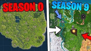 Evolution Of Fortnite Map (Season 0 To Season 9)