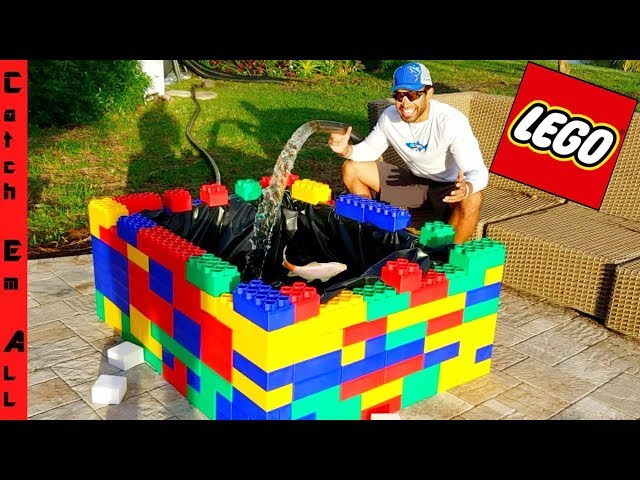 MASSIVE LEGO POND BUILD for FISH!