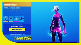 BOUTIQUE FORTNITE Du 1 Aout 2020 ! Skin GALAXY
