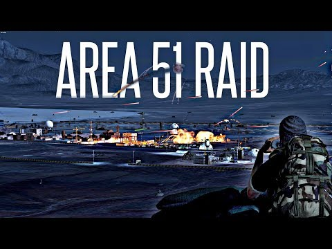 AREA 51 RAID! - ArmA 3 Insane PVP Event (they can't stop all of us!)