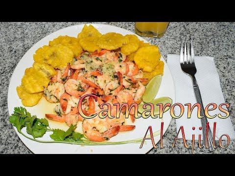 Receta Camarones al Ajillo Rapido y Facil - Cocinando con Yolanda