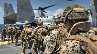 Helo Raid Insertion – Marines MEU Vertical Assault Via MV-22