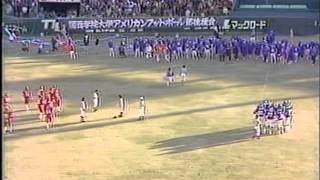 1981年甲子園ボウル関学大vs日大3/4サンテレビ版