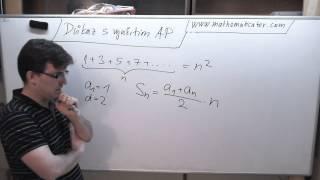 Důkaz o součtu lichých čísel, pomocí aritmetické posloupnosti