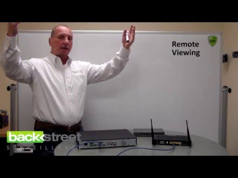 How security camera remote viewing works.