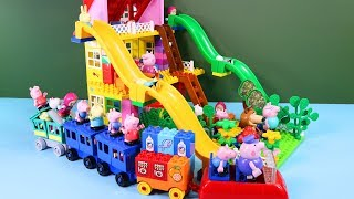 Peppa Pig Blocks Mega House Construction Sets - Lego Duplo House Creations Toys For Kids #2