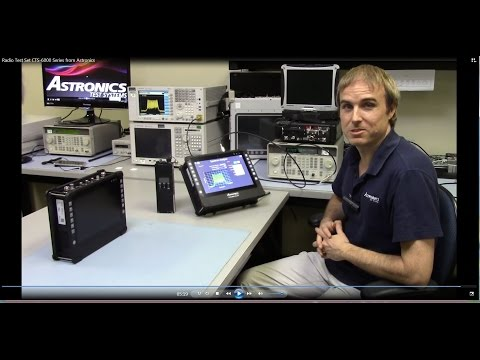 Demonstration of CTS-6000 Series Radio Test Set