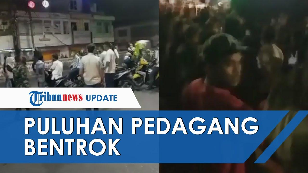 Viral Video Puluhan Pedagang Nyaris Ricuh dengan Satgas Covid-19 Bandar Lampung, Begini Faktanya