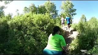 Идем от Пещерского водопада по тропинкам видео 360