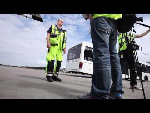 ELTEN Sicherheitsschuhe: Überrolltest am Flughafen Münster/Osnabrück