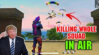 KILLING WHOLE PRO SQUAD IN AIR | DUO VS SQUAD WTF MOMENT 😂 ||FREEFIREGameplay