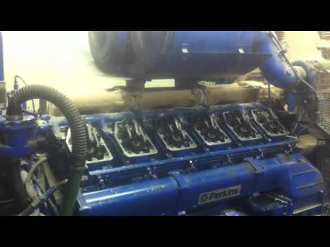 IGSPL - Perkins 4012 engine FG Wilson P1500 generator start up after new injector nozzles installed