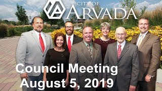 Preview image of City Council Meeting -  August 5, 2019