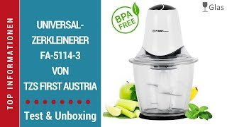 ► Test-Video Universalzerkleinerer FA-5114-3-BA von TZS First Austria auf Deutsch ☑