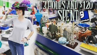 3 Hours and $120 Spent at Goodwill! | Thrifting Vintage and Antiques for Resale