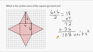 Surface Area Of A Cube, Rectangular Prism, Triangular Prism And Square Pyramid