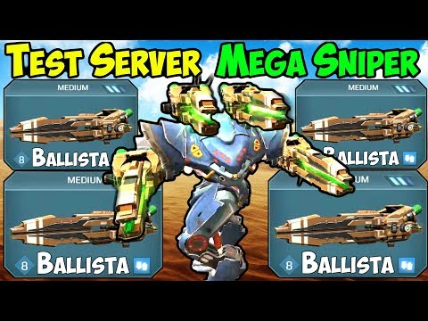 War Robots Test Server [4.0] Ballista Spectre Sniper Gameplay - WR FFA