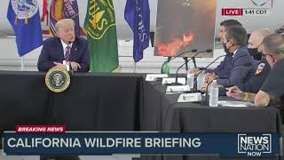 Trump on California fire briefing. (It's going to get cold)
