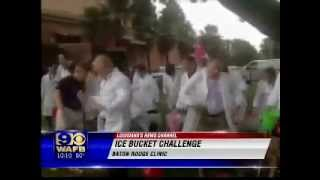 The Baton Rouge Clinic participates in the Ice Bucket Challenge on WAFB Channel 9